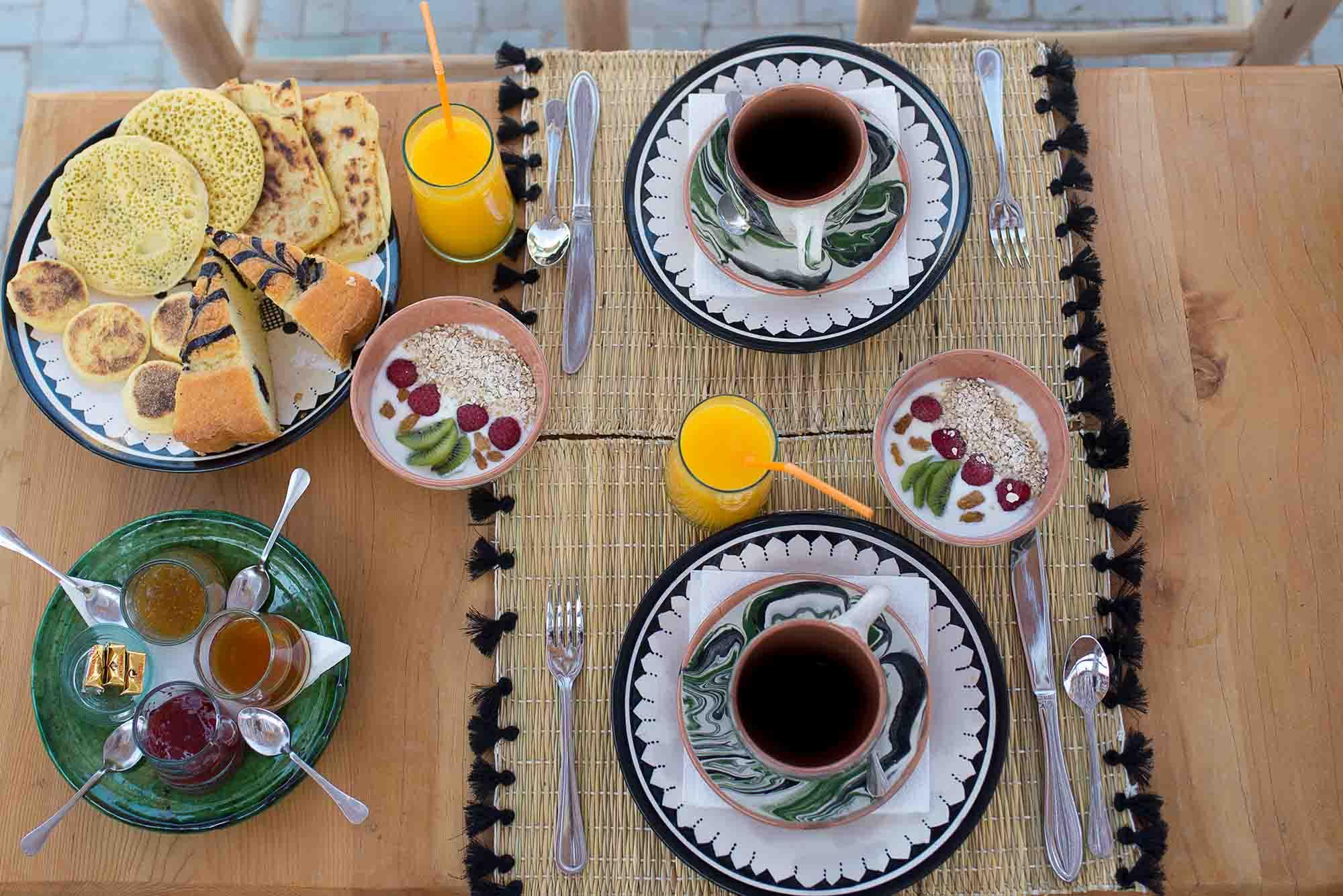 KSAR KASBAH & SPA MARRAKECH cuisine petit déjeuner